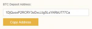 bitcoin adres moet je kopiëren om binance te kopen